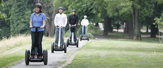 The Segway i2 on the trail.